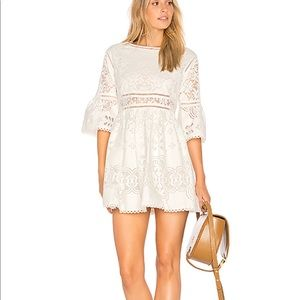 Spell Clover lace Mini Dress With Tags